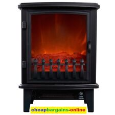 HELLER 1800W ELECTRIC FIREPLACE HEATER PORTABLE FREESTANDING FIRE FLAME EFFECT