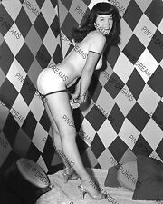 "Bettie Page Cult Pin-up Vintage 10"" x 8"" re-print Photograph of Classic 1950s"