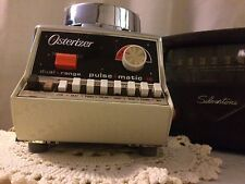 Vintage Osterizer Galaxie Pulse-Matic-Blender White &Chrome 16 Speed