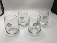 Crispin Cider Co. Stemless Wine Glasses Set Of 4 USED