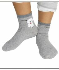 Cute Wani Dog Soft Socks (Gray)