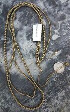 "SILPADA brass ball bead LONG NECKLACE rare 2-strand NWT new 40"""
