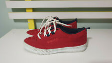RED VOLLEY SHOES SNEAKERS SIZE 6 DUNLOPS