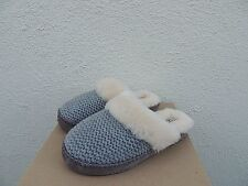 UGG GREY AIRA KNIT SHEEPSKIN SLIPPERS,  WOMEN US 10/ EUR 41 ~ NEW IN BOX
