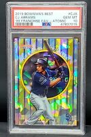 2019 Bowman ATOMIC REFRACTOR Padres CJ ABRAMS RC Card PSA 10 GEM MINT Pop 3