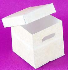 Dollhouse Miniature 1:12 Scale Tan File Box