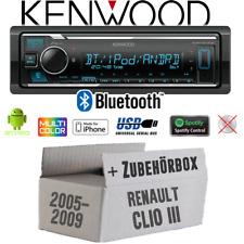 Kenwood Autoradio Einbauset für Renault Clio 3 Bluetooth MP3 USB iPhone Android