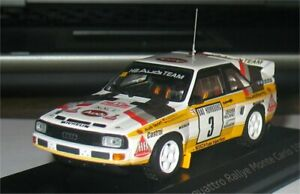 Audi Sport Quattro HB - 2º Rally Monte Carlo 1985 - Walter Rohrl - Minichamps