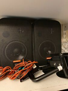 JBL Control 1 Speakers with JBL brackets and wires