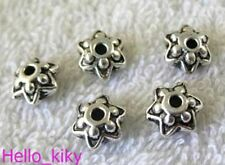30pcs tibetan silver tone 5mm star patterns spacer beads H1934