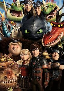 HOW TO TRAIN YOUR DRAGON 2 Movie PHOTO Print POSTER Film Cast Hiccup Toothless 4