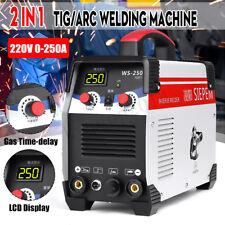 220V 7000W 2In1 TIG/ARC Welding Machine 250A MMA IGBT Inverter WS-250 Welder Kit