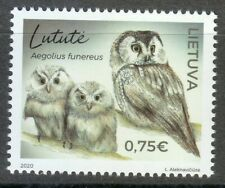 Lithuania 2020 MNH  Boreal owl known as Tengmalm's owl / Aegolius funereus **