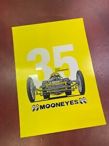 Mooneyes Japan 35th anniversary poster 40 x 30cm dragster hot rod kustom