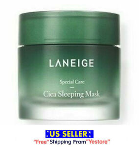 Laneige Cica Sleeping Mask Face Care Moisturizing (10 or 60ml) Lotion -US Seller