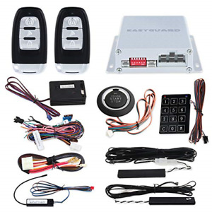 EASYGUARD EC002-NS PKE Passive Keyless Entry Car Alarm System Remote Start St...