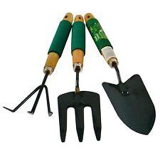 Garden Gardening Hand Rake / Spade / Shovel / Fork 3pc Set Digging Cleaning
