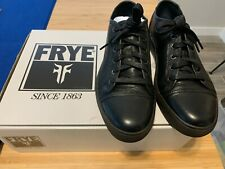 Frye Justin Low Lace Mens Black Leather Lace Up Low Top Sneakers Shoes Size 7
