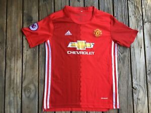 #21 Large Kid's 13/14 yrs Manchester United EPL Soccer Jersey Clean IBRAHIMOVIC