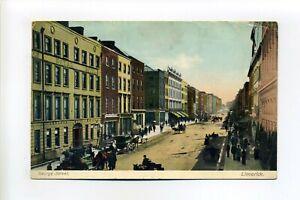 Ireland, Limerick vintage postcard, George Street, Royal Hotel, people, horses