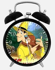 """Curious George Alarm Desk Clock 3.75"""" Home or Office Decor Z173 Nice For Gift"""