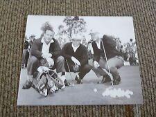 Arnold Palmer, Jack Nichlaus Gary Player B&W Golf Photo PDA Masters
