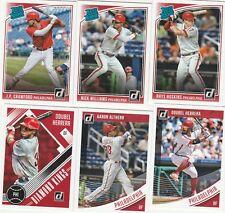 Philadelphia Phillies  2018 Donruss MASTER TEAM SET (6 cards) Hoskins R/C