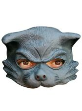 Cat Half Face Mask Latex Fancy Dress Child or Adult Black