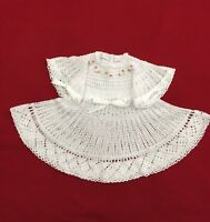 Esvieta Handmade Crochet Baby Girl CROCHET OUTFIT Dress.
