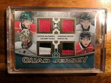 2012/13 ITG Heroes and Prospects Nathan MacKinnon Quad Jersey RC Gold 1/40