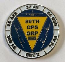 USAF US Air Force 86th OPS GRP Operation Group Awarded By The Commander #077