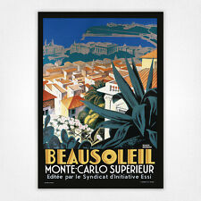 Vintage travel poster-A4-beausoleil