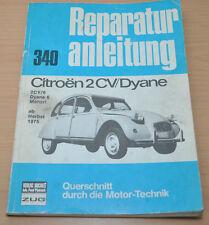 Citroen 2 CV 6 Dyane Mehari Motor ab 1975 Ente Motor Reparaturanleitung B340