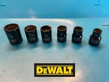 DEWALT 3/8 Drive Sockets / Std, Black chrome, 5/16, 3/8, 7/16, 1/2, 9/16, 5/8