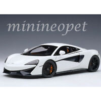 AUTOart 76041 MCLAREN 570S 1/18 MODEL CAR WHITE with BLACK WHEELS