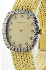 Audemars Piguet Vintage 18k Gold Diamond Bezel & Dial Womens Windup Watch