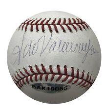 Fernando Valenzuela Dodgers Signed OML Baseball UDA Upper Deck/MLB Holo 51143