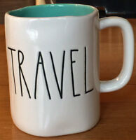 Rae Dunn Artisan Collection Magenta TRAVEL w/Blue Interior Ceramic Coffee Mug