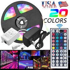 44 Key 5M RGB 5050 Waterproof 300 LED Strip light SMD Remote 12V Power Full Kit