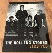 The Rolling Stones Stripped Promotional Poster 1995 24 X 18