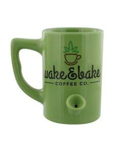 Nemesis Tea and Coffee Mug Wake and Bake Green 15x16x15cm