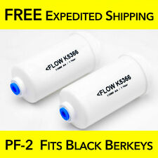 Berkey PF-2 Fluoride FITS BLACK BERKEY Filters 1 Pair Royal Crown Imperial Big