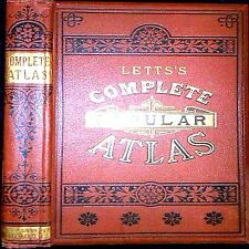 LETTS'S COMPLETE POPULAR ATLAS 1ST EDITION 156 COLOR MAPS GEOGRAPHY EUROPE ASIA