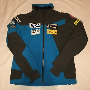 Spyder US Ski Team Jacket Size Medium Spylon Insulated National Sponsored USA
