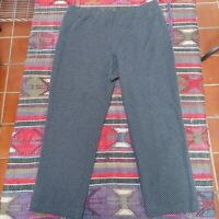 J Jill Ponte Pants Size Large Petite Womens Black Slim Leg Capri Diamond Pull On