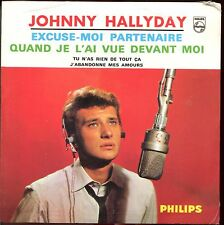 JOHNNY HALLYDAY - EXCUSE-MOI PARTENAIRE- CD SINGLE REPLICA DU SUPER 45 T