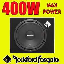 "ROCKFORD FOSGATE 12 ""Pollici 400 W CAR AUDIO SUBWOOFER driver SUB WOOFER + Bass Box"
