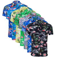Mens Casual Hawaiian Short Sleeve Shirts Floral Print Shirt Beach Summer NG2009