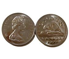 CANADA 1965 UNC 5 cent Nickel from Mint Roll