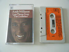ANDY WILLIAMS LOVE THEME FROM THE GODFATHER CASSETTE TAPE 1972 PAPER LABEL CBS